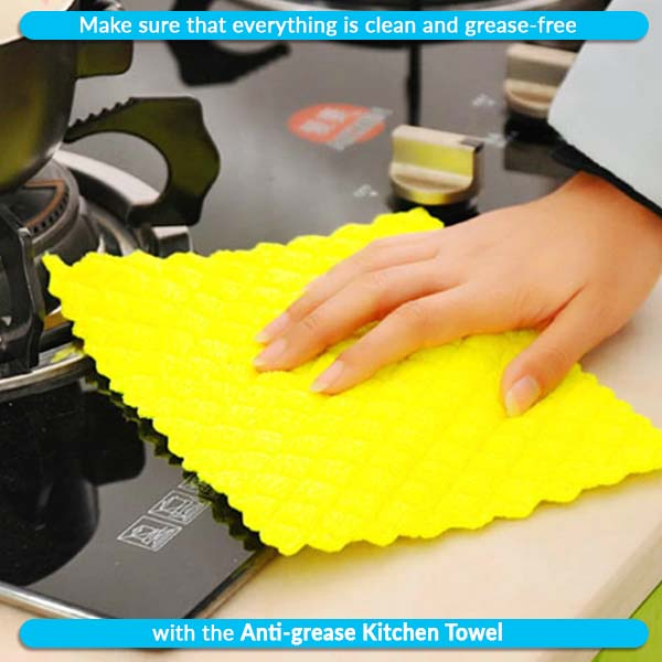 Anti-grease Kitchen Towel (5 pack)