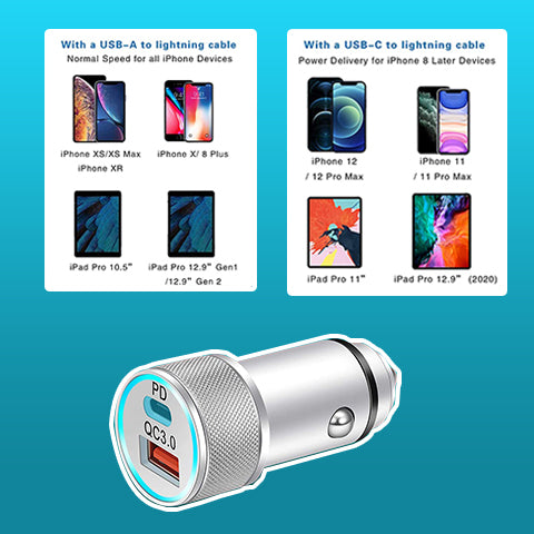 20W USB iPhone Car Charger (2-Pack)