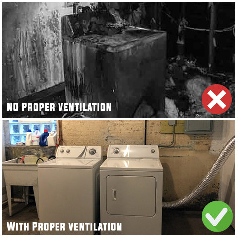 Comparison using a 4 inch dryer dock versus without the dryer dock it might causes fire in ventilation if you leave your dryer vent hose