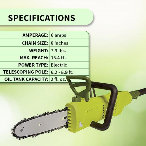 2-in-1 Electric Chain Saw & Pole Saw
