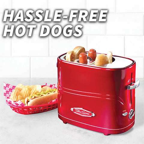 Fast Pop-up Hot Dog And Bun Toaster