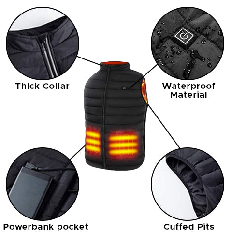 Universal USB-Charging Heated Vest