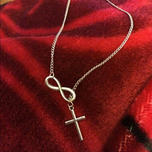 Load image into Gallery viewer, Eternal Faith Silver Cross Necklace