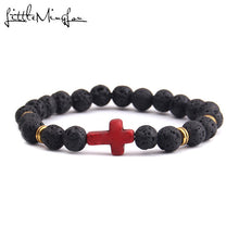 "Load image into Gallery viewer, ""Passion of Christ"" Lava Bracelet"