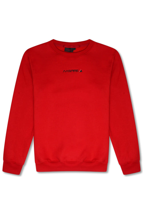 AASPIRE CREW NECK SWEATSHIRT (RED)