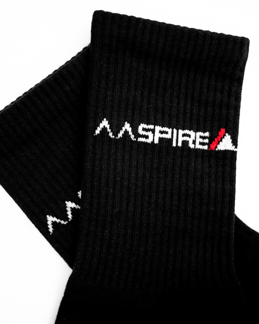 AASPIRE ORIGINAL 2 PACK SOCKS (BLACK)
