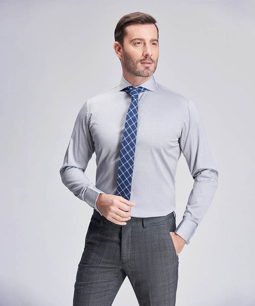 DAGENHAM SLIM-FIT GREY SHIRT