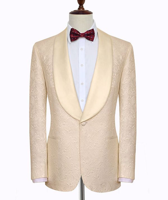 CHAMPAGNE JACQUARD CUSTOMIZED SUIT