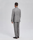ELEGANT GRAY PLAID BUSINESS SUIT
