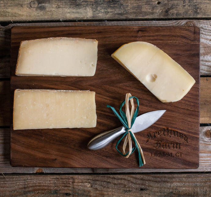 Arethusa Cheese Trio and Cutting Board