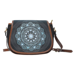 Winter Leaves Mandala Saddle Bag