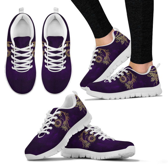 Womens Sun and Moon Dark Purple Sneakers.
