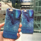 Blue Case For iPhone - Crystal Stone Style