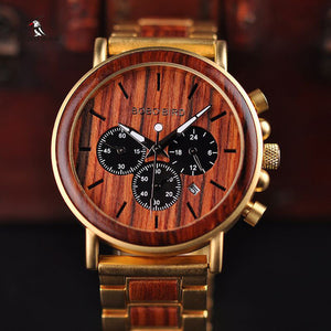 BOBO Bird Watch for Men - Luxury Brand Wooden Watch