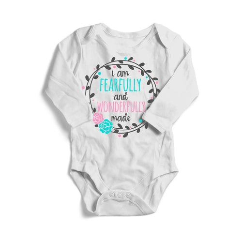 Baby Bodysuit Long Sleeve -Fearfully & Wonderfully