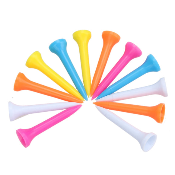 Golf Tees 100Pcs Portable Lightweight Mixed Color Plastic 42mm (1 2/3 inch)