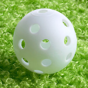 Plastic Golf Training Balls 50pc/LOT - Whiffle Airflow Hollow Golf Practice Balls (2 Colors)