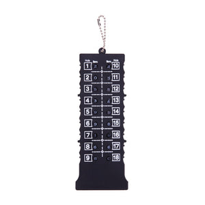 18 Hole Golf Stroke Putt Score Card Counter. Golf Score Indicator with Key Chain. Golf Score Counter Black. Golf Training Aids