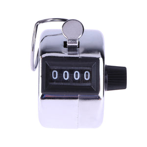 Mini 4 Digit Hand Tally Counter - Mechanical Digital Manual Counting - Tally Finger Clicker for Golf Training