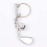 Keychain Golf Club and Ball Silver Metal Creative Keyring - Gift Fashion