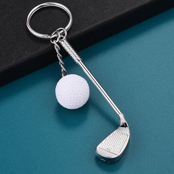 Golf Brassie Keychain Keyrings - Gift for Golf Lover - Golf Jewelry