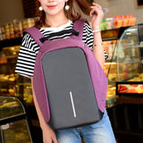 Oxford Backpack - USB Charger Backpack and Computer anti-theft Backpack