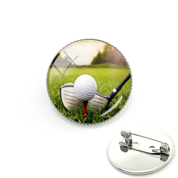 Golf Course Brooches Pin Badge - Junior Golfer Academy