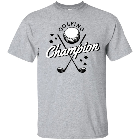 T-Shirt Golf Lover Gift Men Unisex - Golfing Champion - Short Sleeve O-Neck 100% Cotton