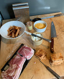 preparing bacon and cheese hors d'oeuvres with Nicer Slicer