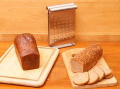 French gingerbread and rye bread with The Nicer Slicer