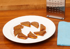 French rye toasted hors d'oeuvres with The Nicer Slicer