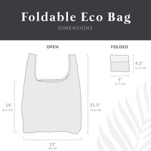Load image into Gallery viewer, salt atlas foldable eco bag dimensions open and folded