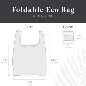 salt atlas foldable eco bag dimensions open and folded