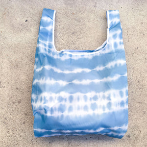 salt atlas foldable eco bag in tie dye print