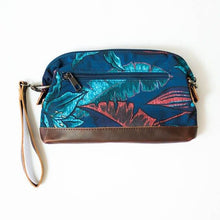 Load image into Gallery viewer, back of the salt atlas rover crossbody bag in blue lily print