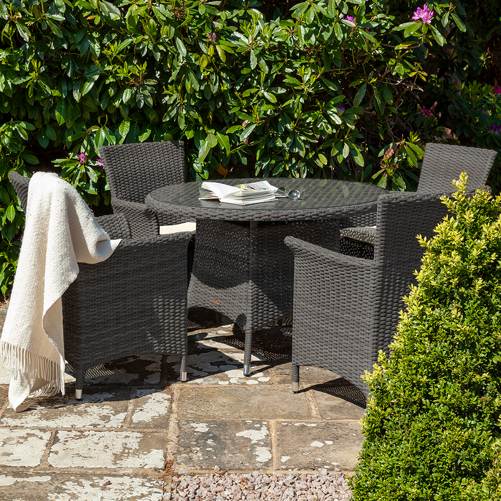 Serica Dark 4 Seat Dining Set