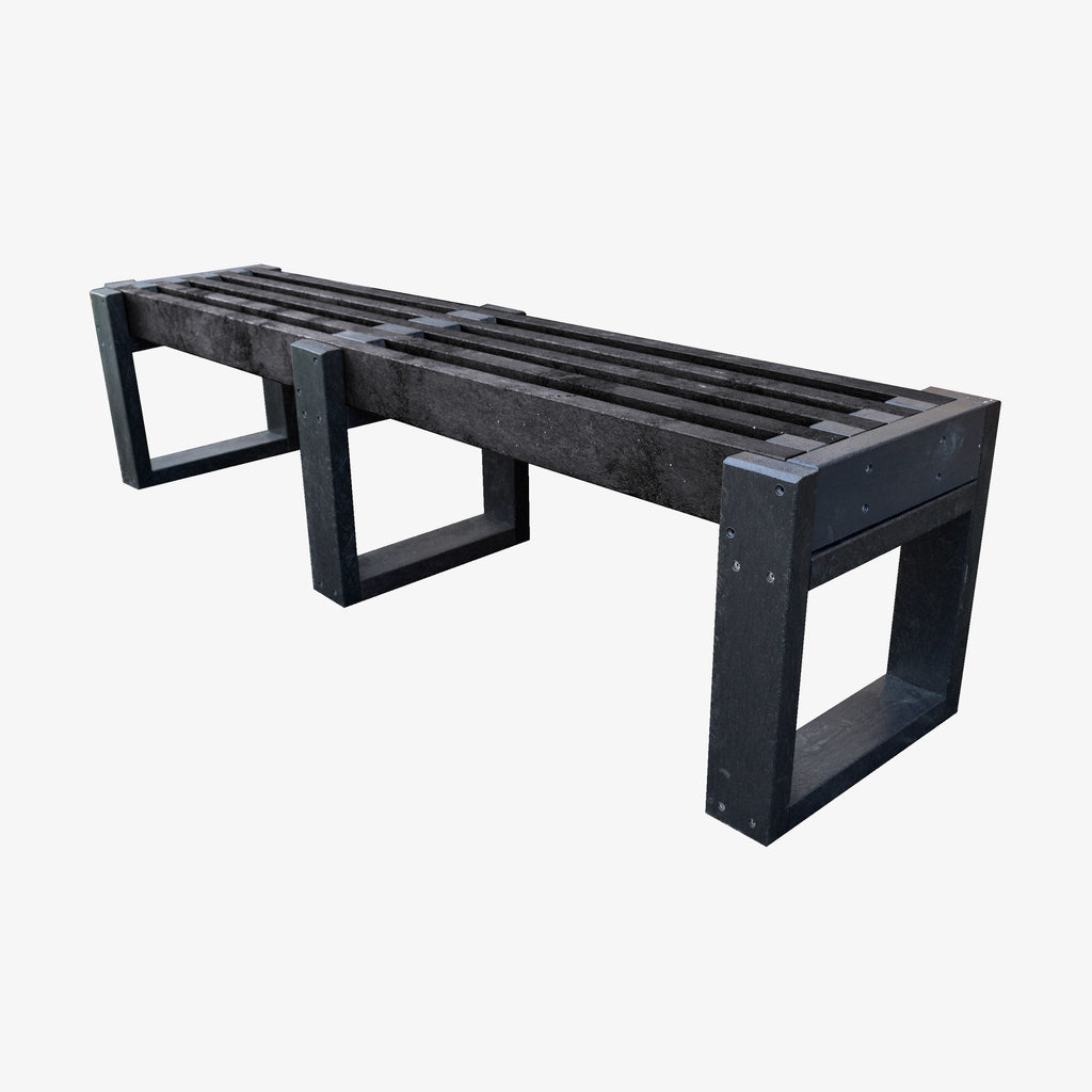 Manticore Lumber black recycled plastic bench