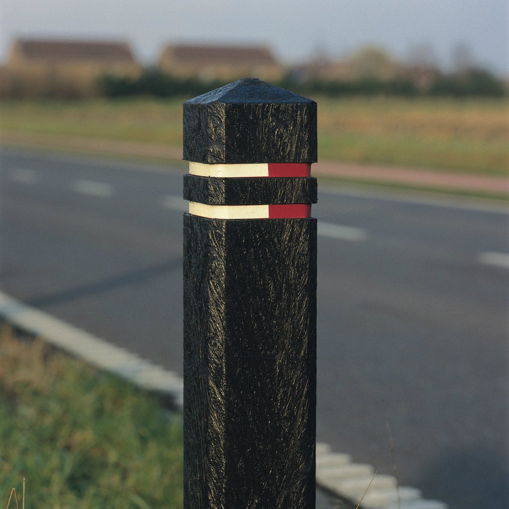 Square Bollard - 2 Mixed Bands