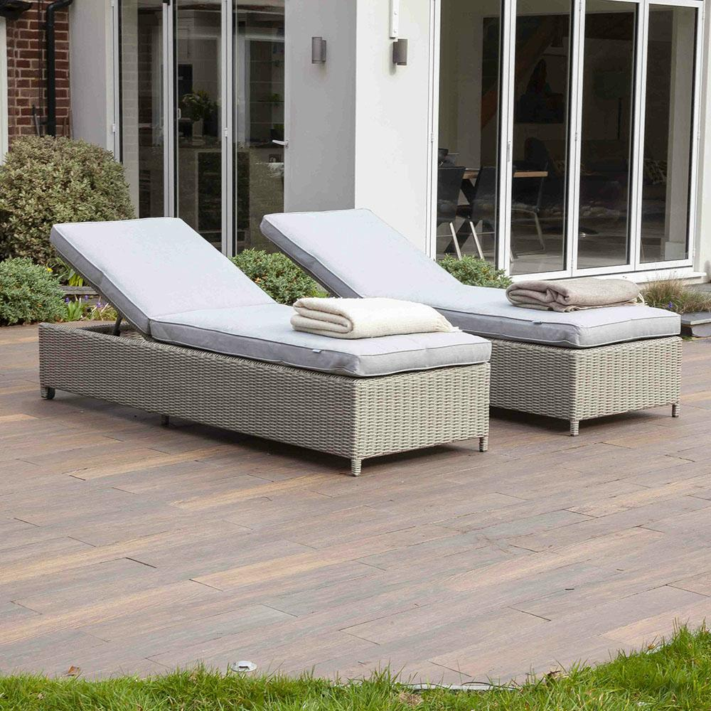 Fiennes Luxury Sun Lounger and Table Set