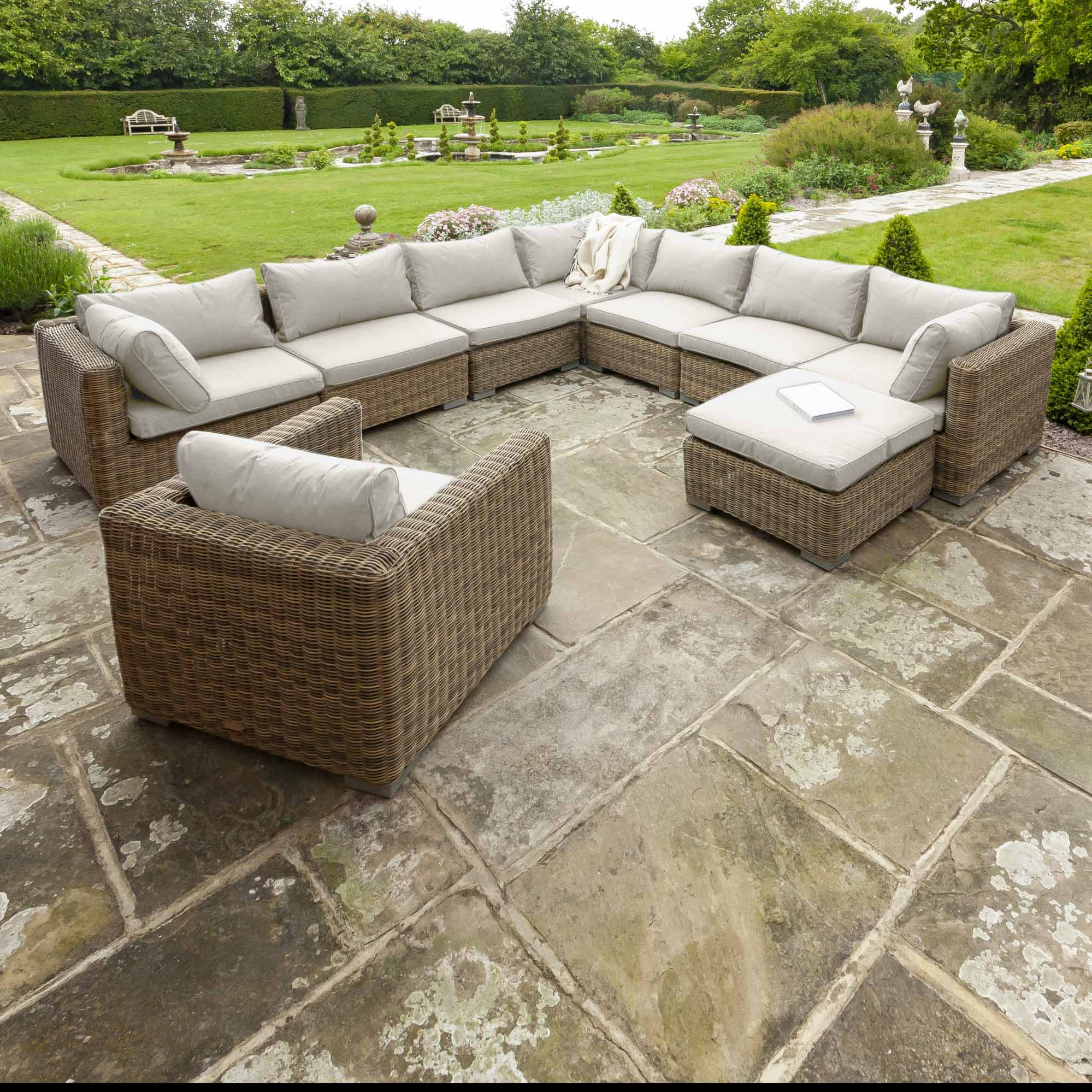 Livingstone 7 Seater Sofa Set With Armchair & Footstool