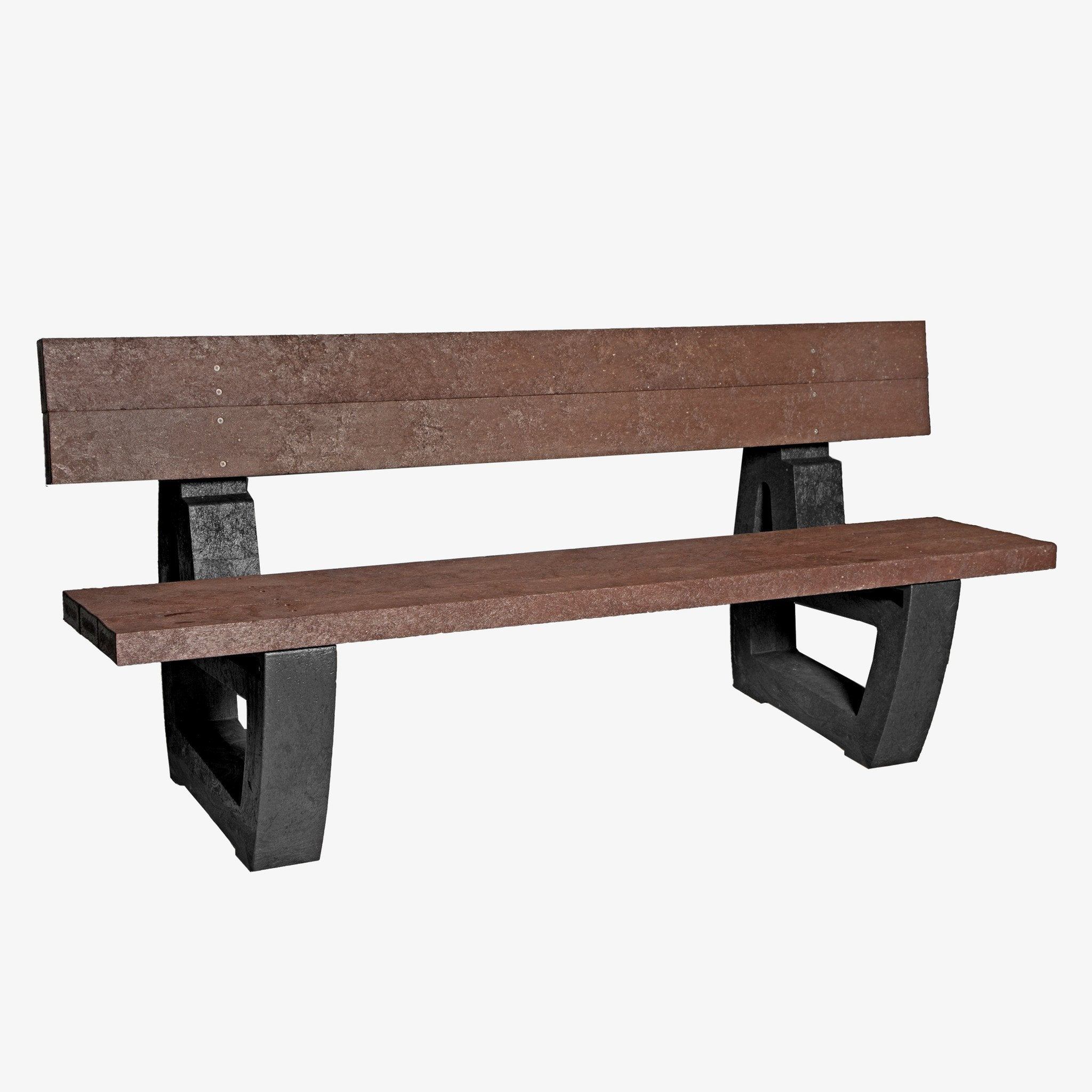 Manticore Lumber black & brown recycled plastic bench