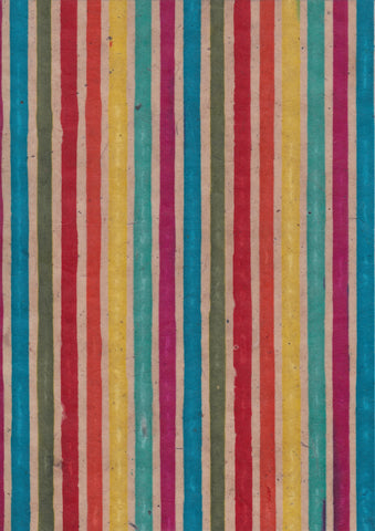 A4 Paper / No.146 Rainbow Stripe Wax Paper