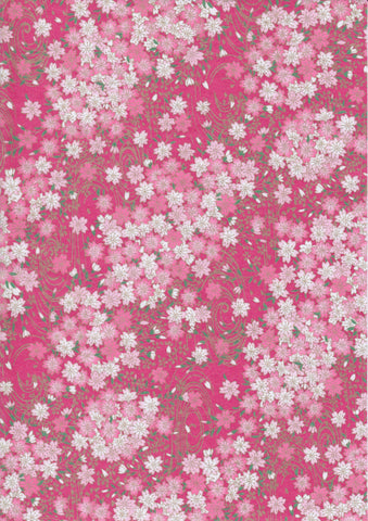 A4 Paper / Pattern No.168 / Pink Blossoms