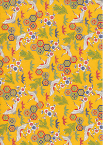 A4 Paper / Pattern No.168 / Yellow Cranes