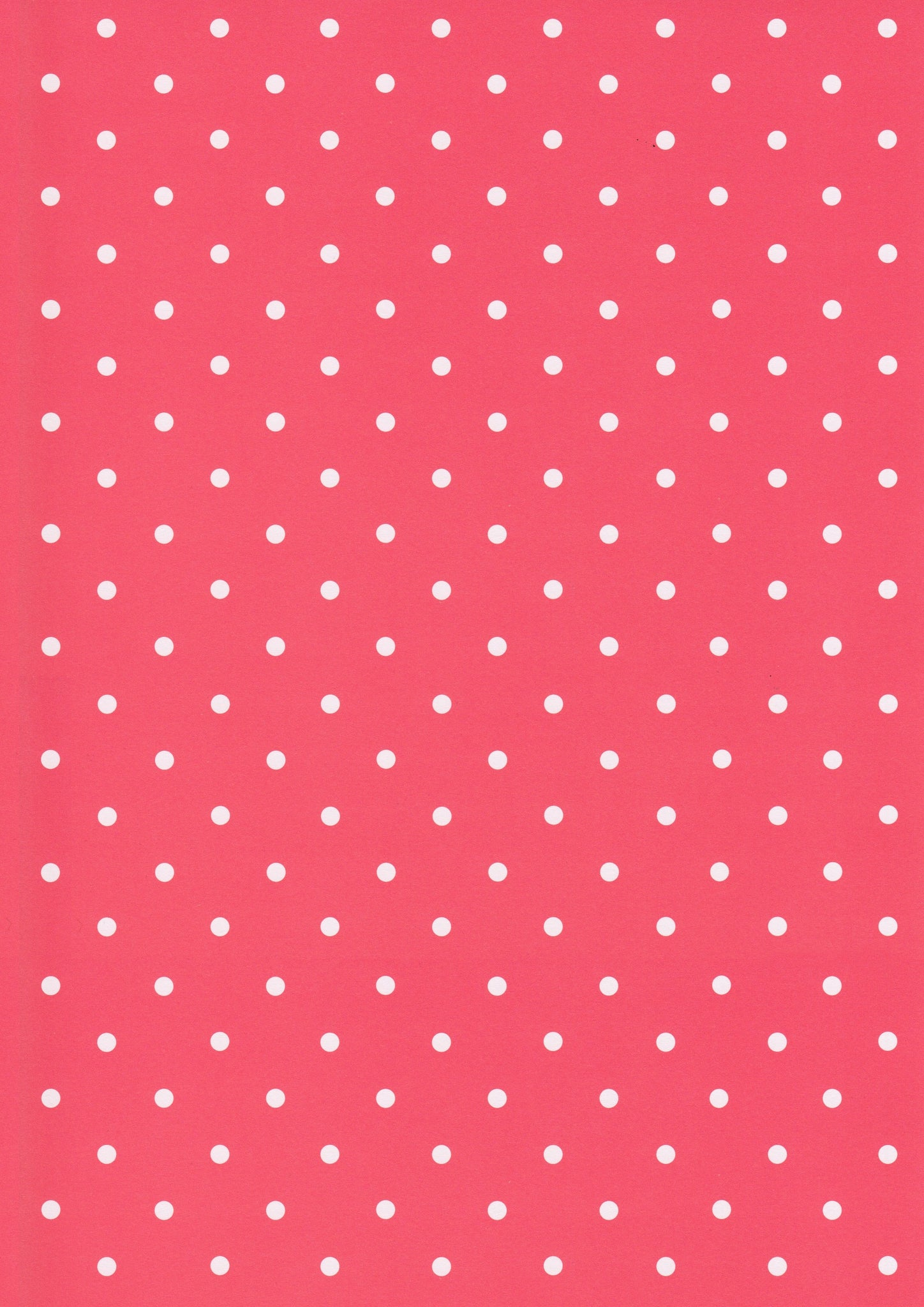 A4 Paper / No.88 Red White Polka Dots