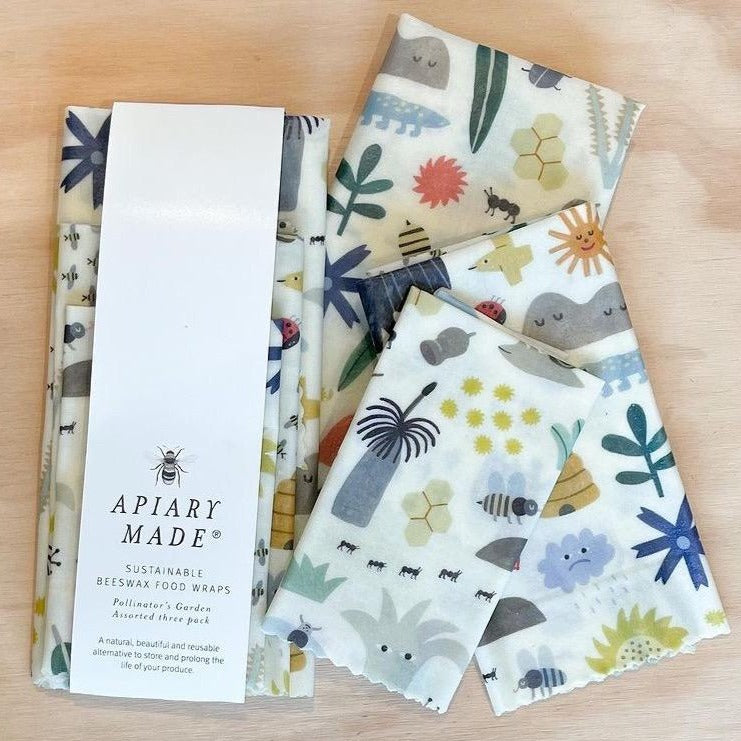 Apiary Made Beeswax Food Wraps