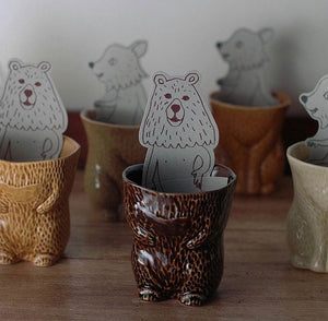 KIYATA Fur Cup Bear