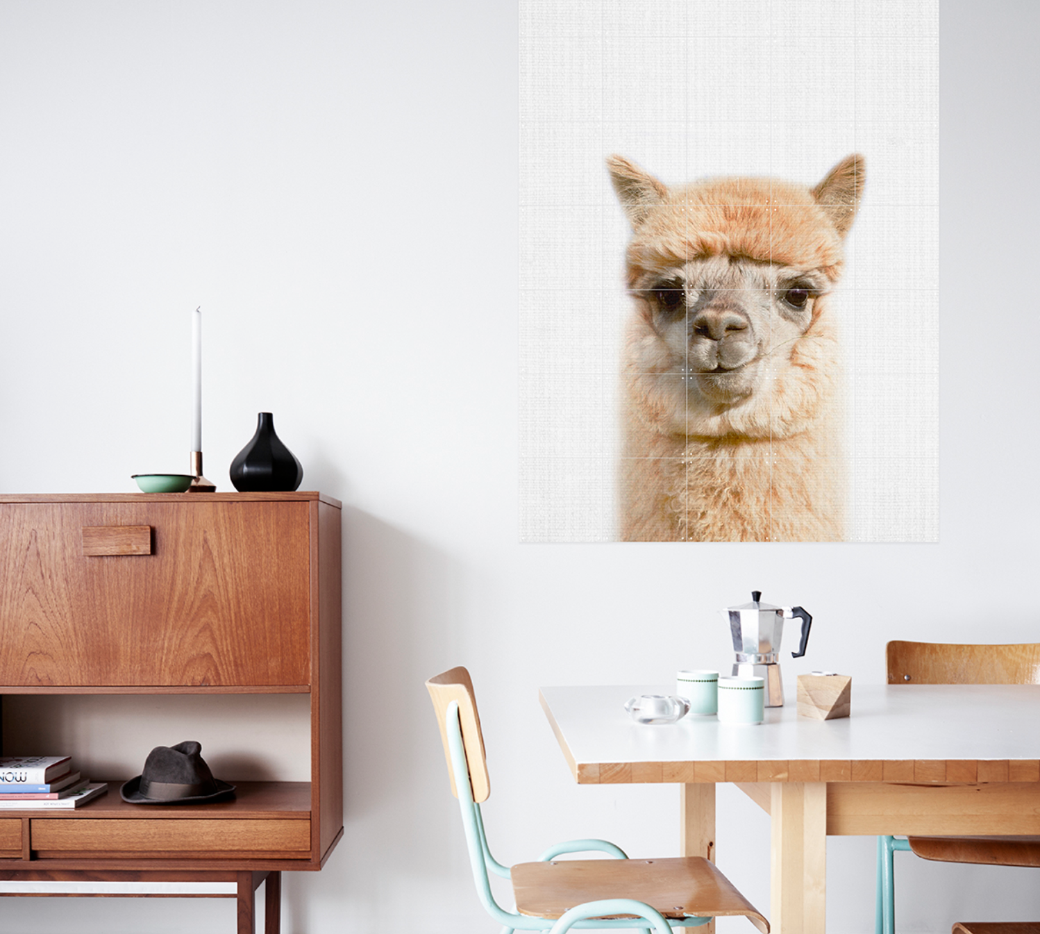 Alpaca (single sided) Wall Art / 80x100cm