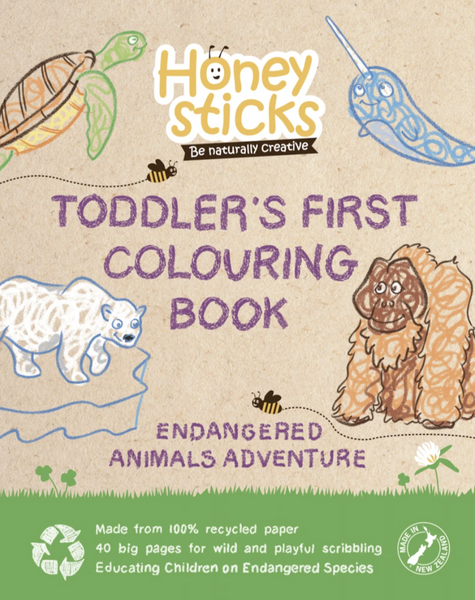 Honeysticks Toddlers First Colouring Book