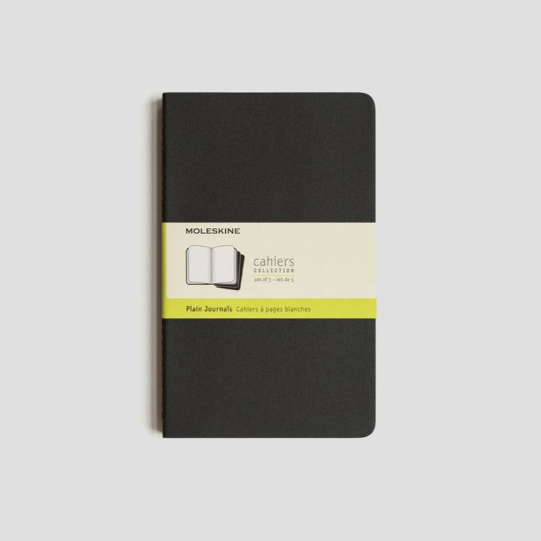 Moleskine Cahier Notebook Set of 3 LARGE: Black